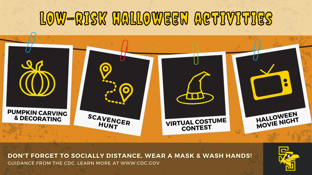safe halloween activities graphic