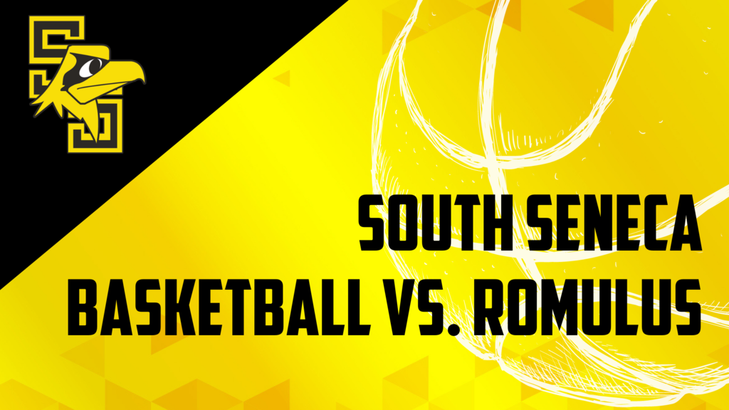Basketball vs Romulus graphic