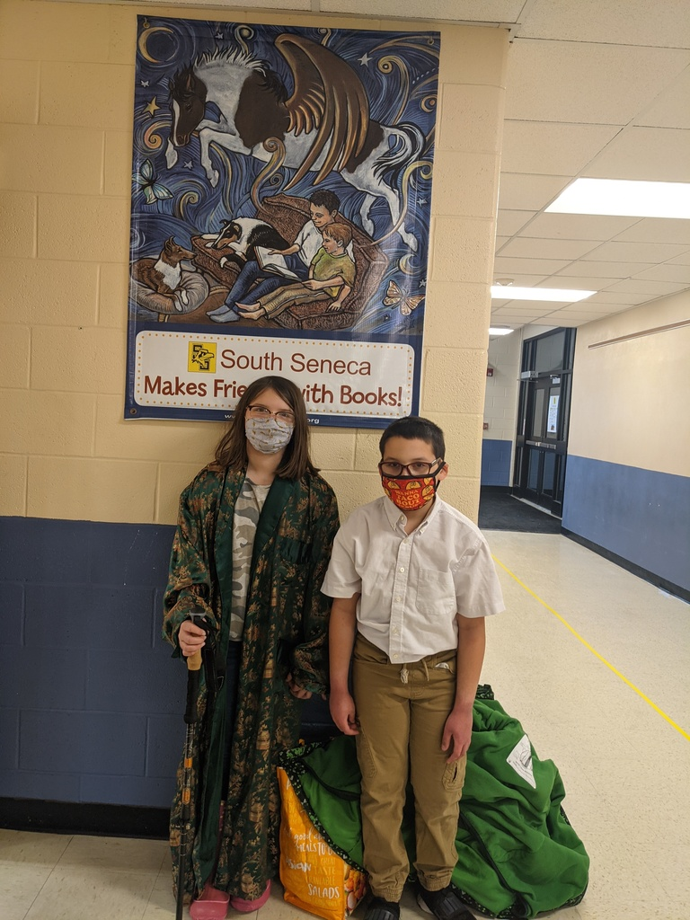 two students dressed up like they are 100