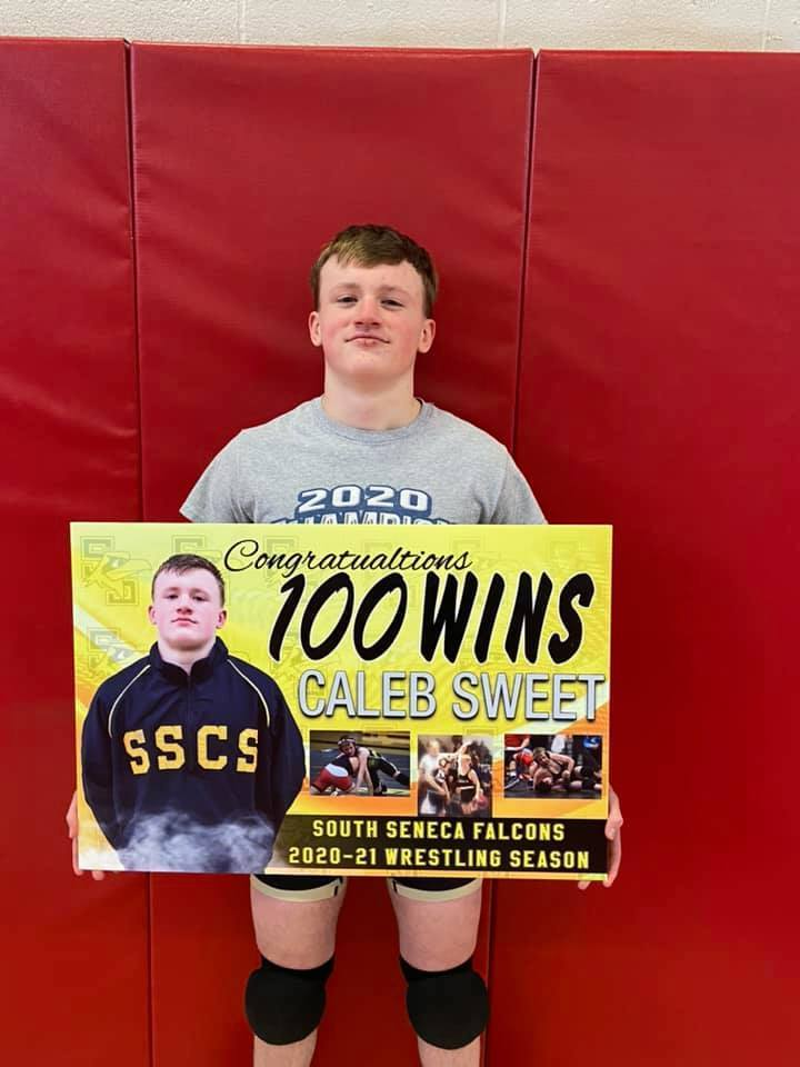 South Seneca wrestler Caleb Sweet
