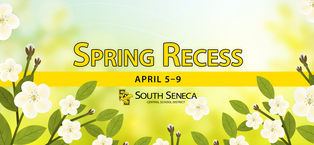 spring recess graphic